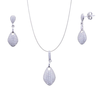 Silver Shine 92.5 Sterling Silver New Look Diamond pendant set for Women & Girls