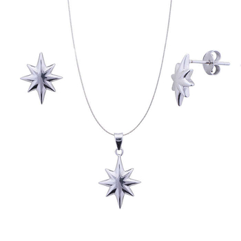 Silver Shine 92.5 Sterling Silver Nights Star Silver pendant set for Women & Girls