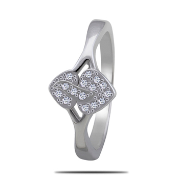 Silver Shine 92.5 Sterling Silver Attach Heart Silver Ring for Women & Girls