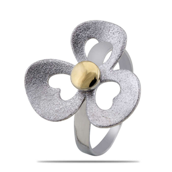 Silver Shine 92.5 Sterling Silver Lovely Flower Cocktail Ring for Women & Girls