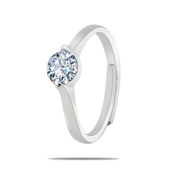 Silver Shine 92.5 Sterling Silver New Fashion Diamond Ring for Women & Girls