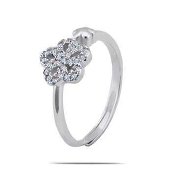 Silver Shine 92.5 Sterling Silver Small Diamonds Sterling Silver Ring  for Women & Girls.