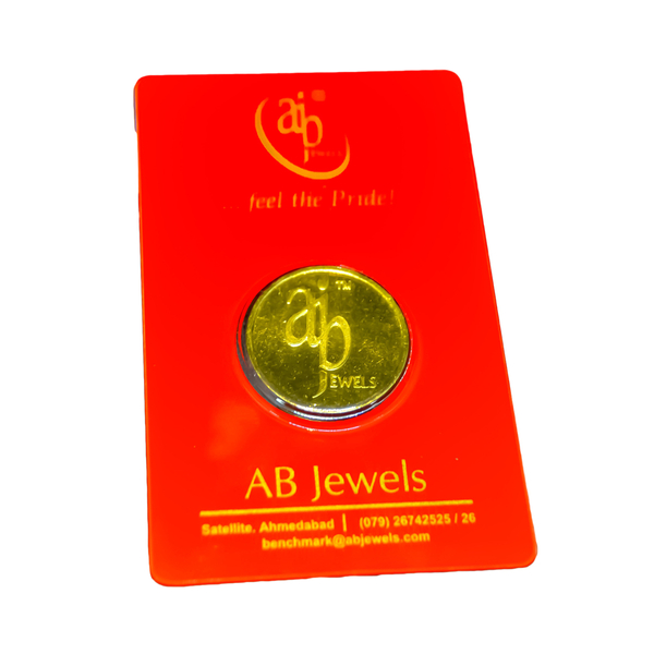 A B Jewels 10 gram 24KT (999) Yellow Gold Coin