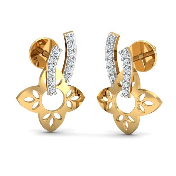 Arkina Diamond's Hanging Flowers Earrings
