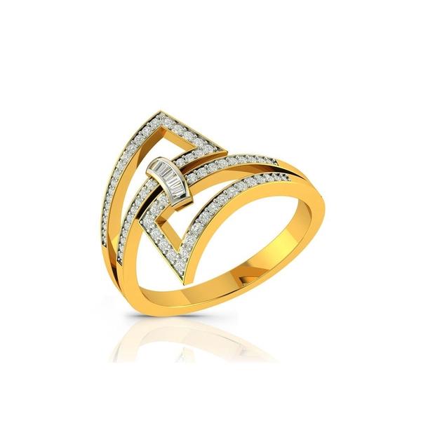 Buy Charu Jewels Diamond Ladies Ring CJLR0014 Online in India