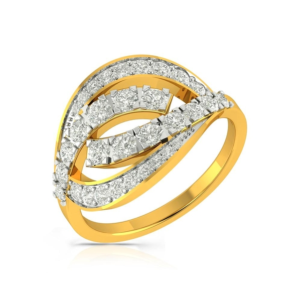 Buy Charu Jewels Diamond Ladies Ring CJLR0272 Online in India