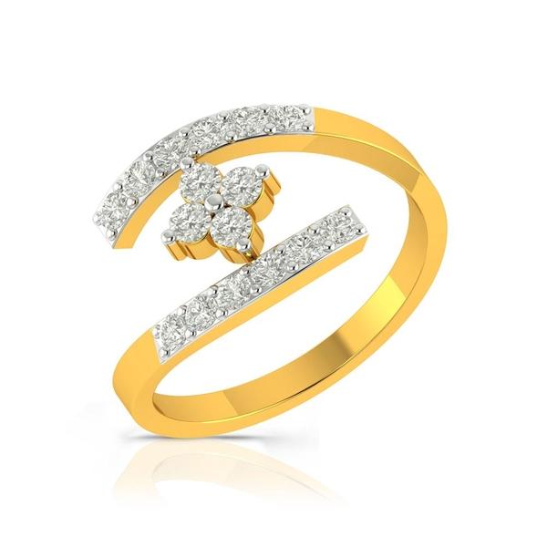 Buy Charu Jewels Diamond Ladies Ring CJLR0554 Online in India