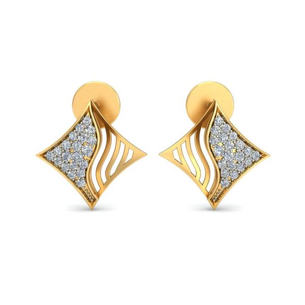 Ornomart's kite diamond swirl Earrings