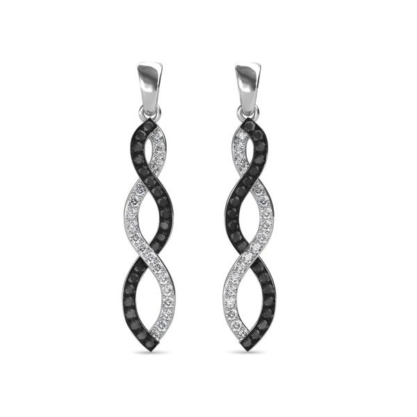 1dddbc12c Sarvada Jewels' The Ezra Black Diamond Long Earrings