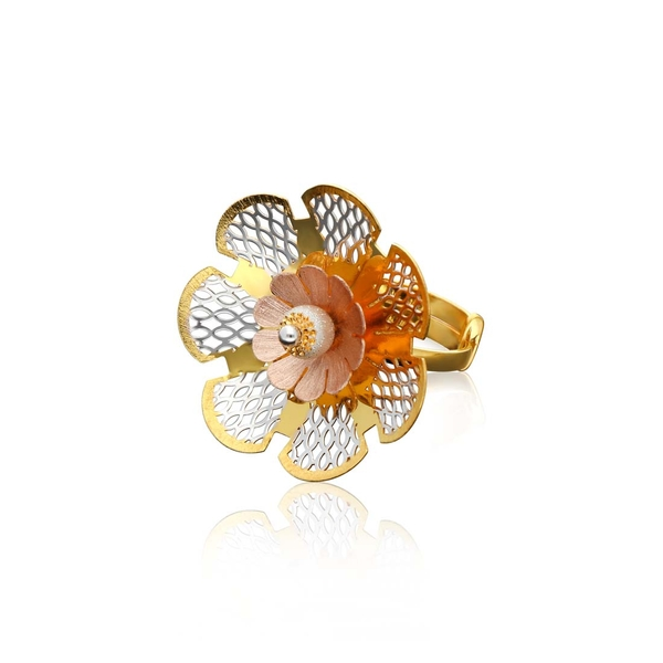 Italian Gold Ladies Ring ILR111