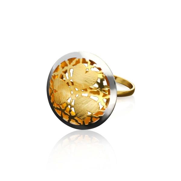 Italian Gold Ladies Ring ILR118