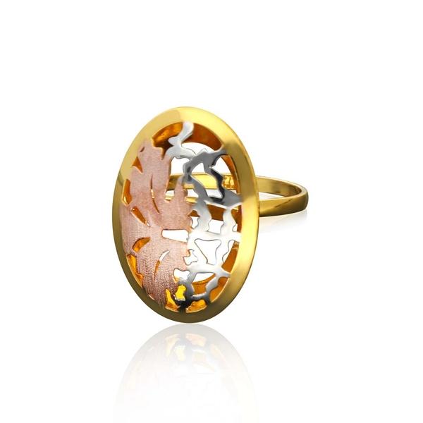 Italian Gold Ladies Ring ILR120