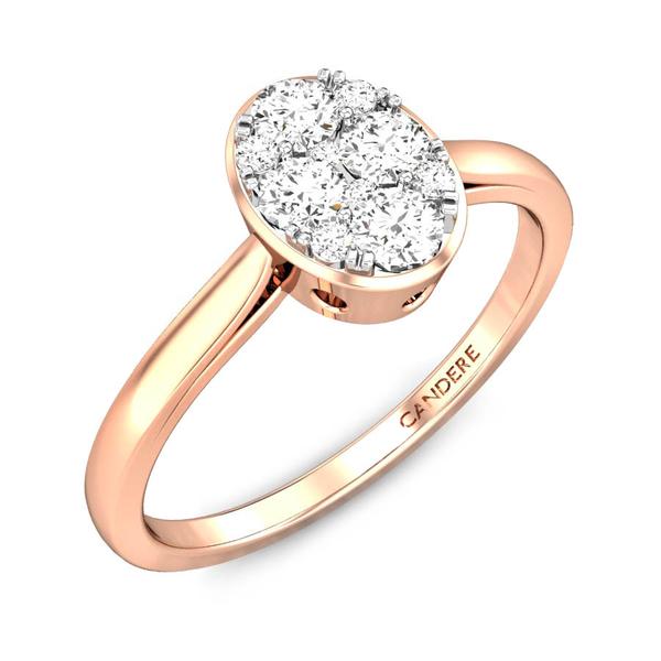 Candere By Kalyan Jewellers 14k (585) BIS Hallmark Yellow Gold Meira Ziah Diamond Ring (IGI Certified)