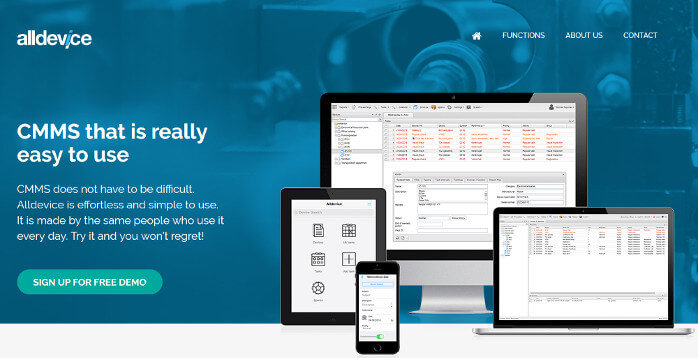 Screenshot of the alldevicesoft.com home page