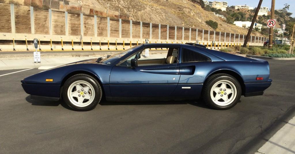 1986 Ferrari 328 GTS rare blue sera color