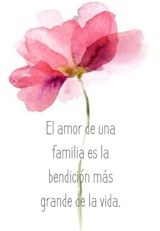El amor de una familia es la bendición más grande de la vida.