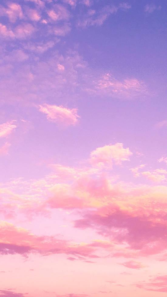 Fondos de Pantalla con Frases - Fondo de pantalla cielo y nubes atardecer rosa