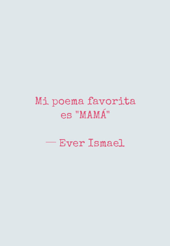 Mi poema favorita es