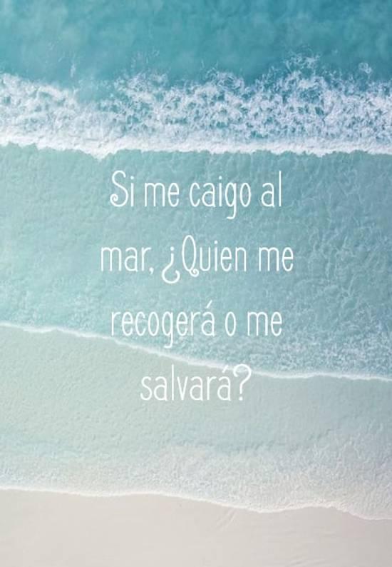 Crea Tu Frase Si Me Caigo Al Mar Quien Me Recogerá O Me