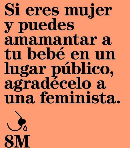 Imágenes de la frase: Si eres mujer y puedes amamantar a tu bebé en un lugar público, agredécelo a una feminista.