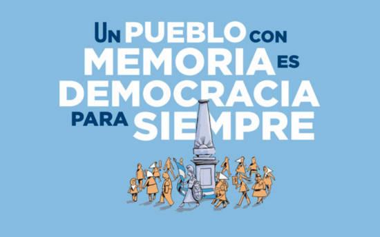 Frases para el Día de la Memoria, Verdad y Justicia - Un pueblo con memoria es democracia para siempre