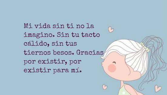 Crea Tu Frase Mi Vida Sin Ti No La Imagino Sin Tu Tacto