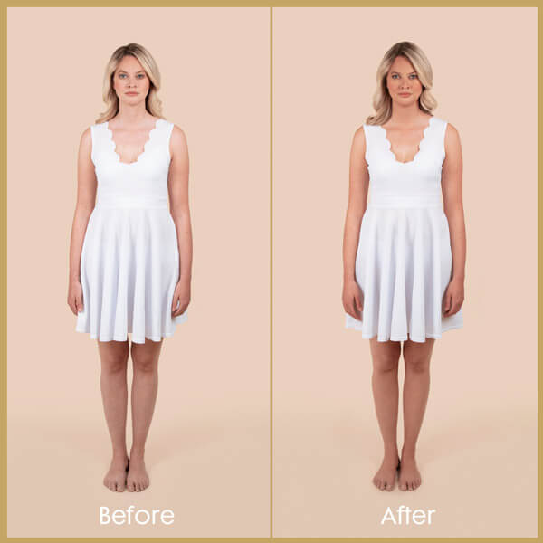 Coconut Water Tan Mist Body - Before and After