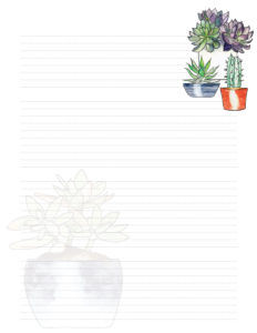 Page 1 Succulent Stationery