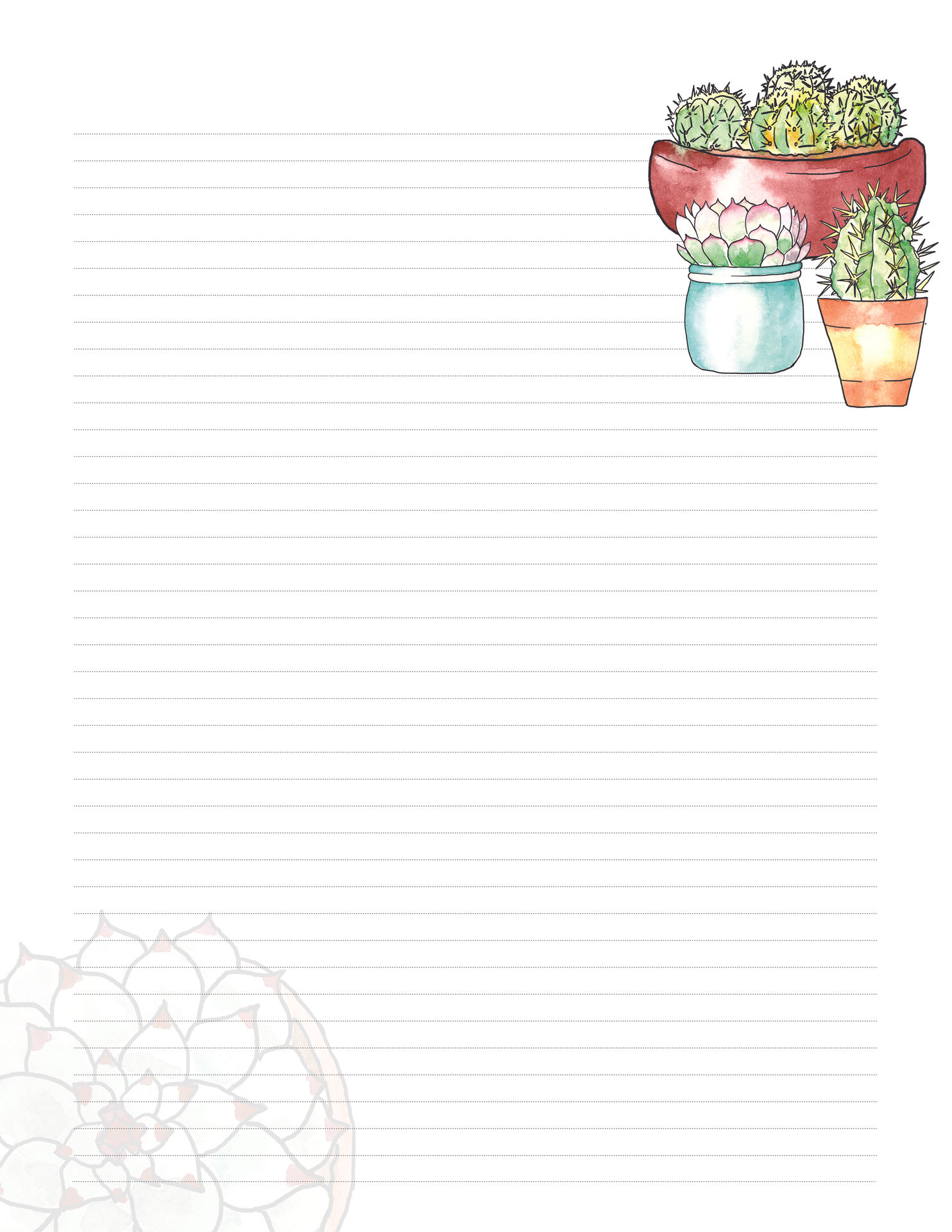 Page 2 Succulent Stationery