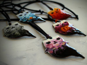 Halloween Cat Necklace by EnamelMagic