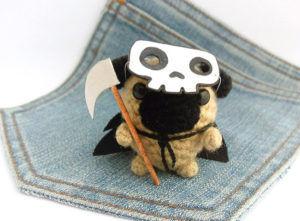 Death Reaper Pug by Owlystore