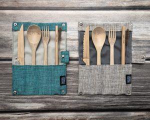 Bamboo cutlery set