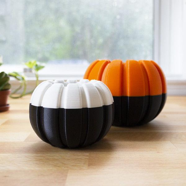 Halloween Pumpkin Planters