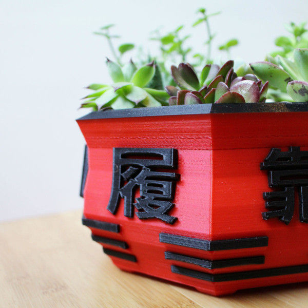 Eight Gates Bonsai Pot ~ Chinese, Asian, Tai Chi, Lucky Eight ~ For Bonsai, Succulents, Cacti