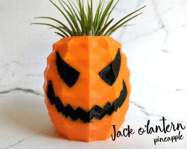 Jack o Lantern Air Plant Pot, Happy Halloween Jack-o-Lantern Home Decor, Spoopy Air Plant Holder, Kids Halloween Gifts