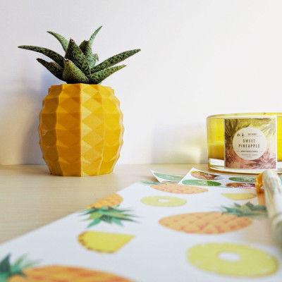 Aloe Pineapple Planter, Pineapple Succulent Planter, Golden Pineapple Aloe Holder, Pineapple Planter, 3d Printed Pineapple, Pineapple Pot