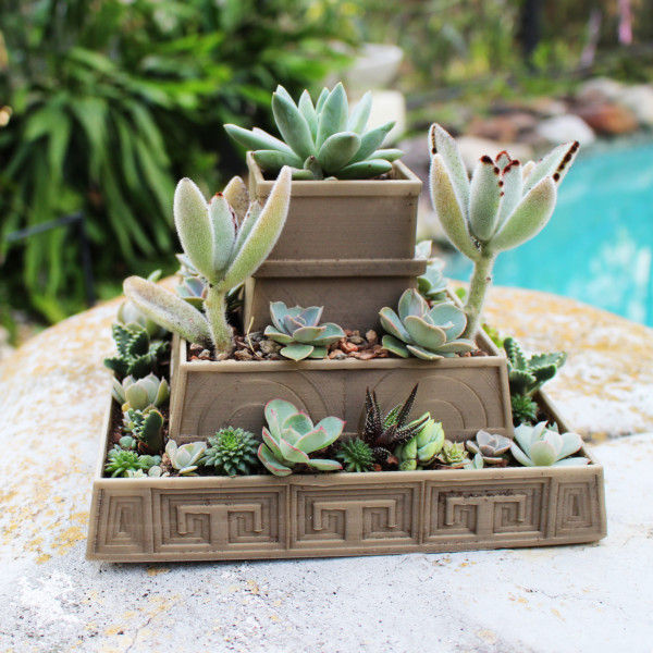 Aztec Pyramid Planter for Growing Succulents, Propagation Tray, 3D Printed Planter, Succulent Planter, Mexican Planter