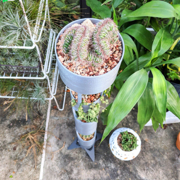 Vertical Rocket Planter, Succulent Pot, Vertical Planter, Cactus Planter, Succulent Planter, Vertical Garden, Herb Garden, Spaceship Planter