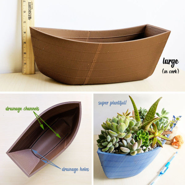 Canoe Planter - Large Wooden Planter, Boat Pot, Boat Planter, Ship Planter, Ship Pot, Fun Succulent Planter, Wooden Box Planter, Nautical