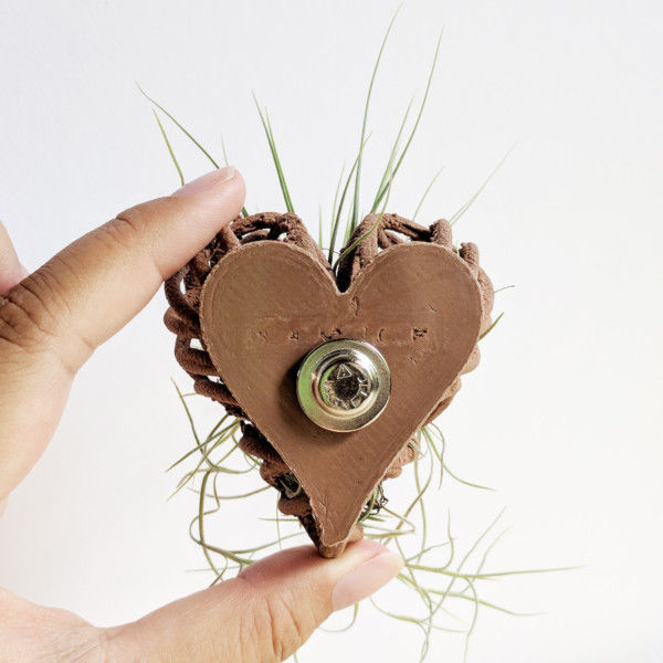 BULK/WHOLESALE Air Plant Heart (Set of 5 Hearts) - DIY Planter Heart - Planter Necklaces, Planter Pins with Magnets, Customizable Heart