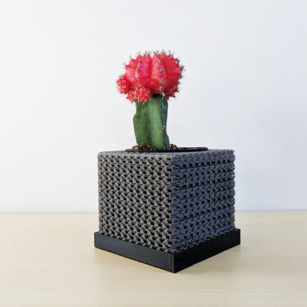 Cubelia - Modern Minimalist Cube Pot, Geometric Succulents Pot, Minimalist Succulent Planter, Square Pot, Mini Orchid Pot, Math Teacher Gift