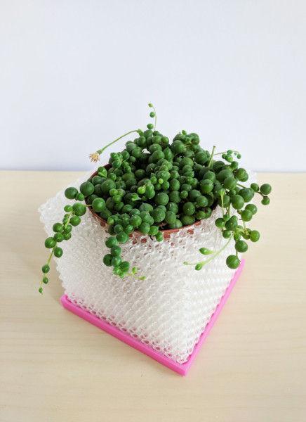 """Medium Cubelia - Modern Cube Pot, Geometric 4"""" Succulents Pot, Minimalist Succulent Planter, Square Pot, Orchid Planter, Unique Orchid Pot"""