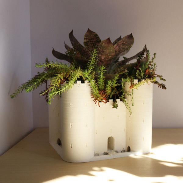 Castle Planter, Large Fortress Planter, Succulent Planter, Cactus Planter, Large Planter Pot, Desk Planter, Cactus Planter, Tabletop Planter