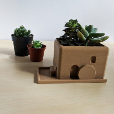 Garden Stone Planter - 3D Printed Planter, Architect, Dia De Los Muertos, Desktop Planter, Succulent Planter, Succulent Pot, Cactus Pot