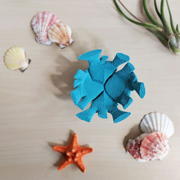 Sea Coral Catch All Dish for Lake House Decor, Coral Reef Inspired, Teal Coral Decor, Air Plant Holder, Catchall Key Dish, Beach Decor