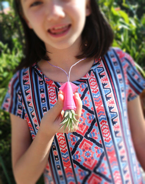 Pink Squid Air Plant Necklace, Kraken Necklace, Teenage Girl Gift, Best Friend Gift, Sister In Law Gifts, Cute Girlfriend Gift