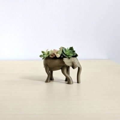 Tiny Elephant Animal Planter for Mini Succulents, Cute Animal Pot, Mini Animal Planter, Small Planter, Mini Succulent Planter