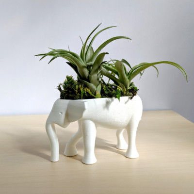 Elephant Planter for Hygge Home Cactus Planter, Elephant Air Plant Holder, Succulent Planter Cute Animal Pot Animal Planter Air Plant Holder