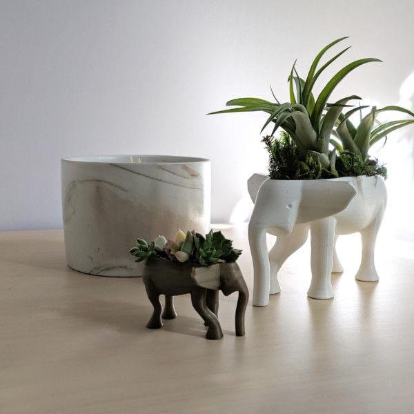 Elephant Planter for Hygge Home Cactus Planter, Elephant Air Plant Holder, Succulent Planter Cute Animal Pot Animal Planter Air Plant Holder