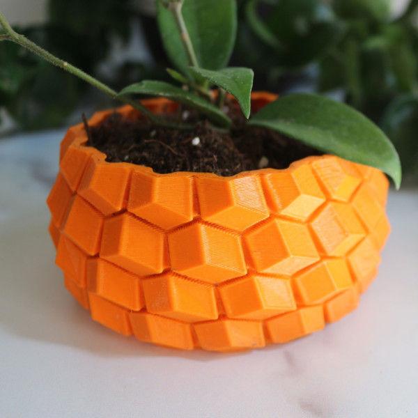 Modern Geometric Planter - Succulent Planter, Honeycomb Planter, Geometric Pot, 3D Planter, Honeycomb Pattern, Hexagon Planter, Modern Pot